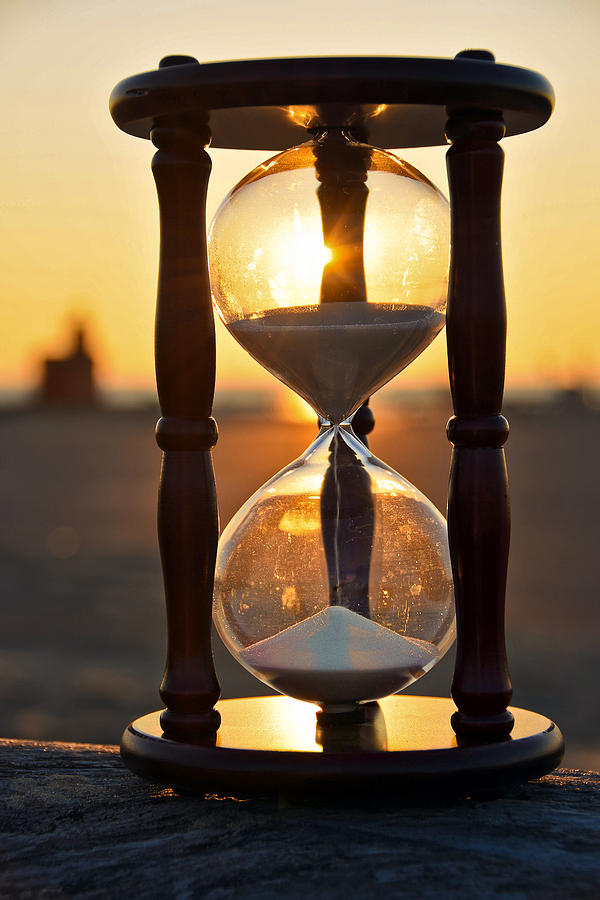 sunset sand timer photograph by maria dryfhout