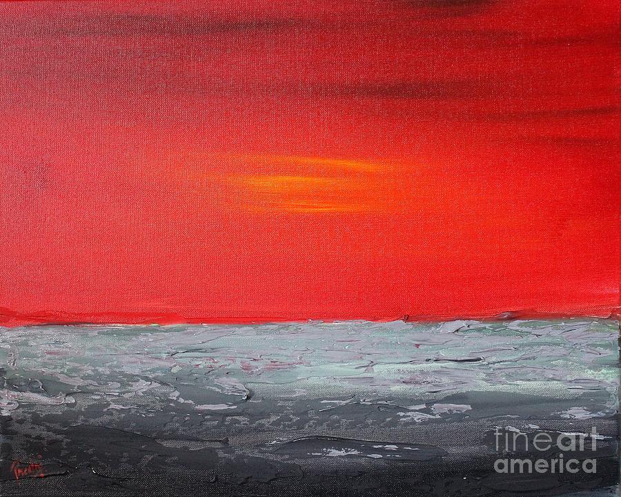 Sunset sea 3 by Preethi Mathialagan