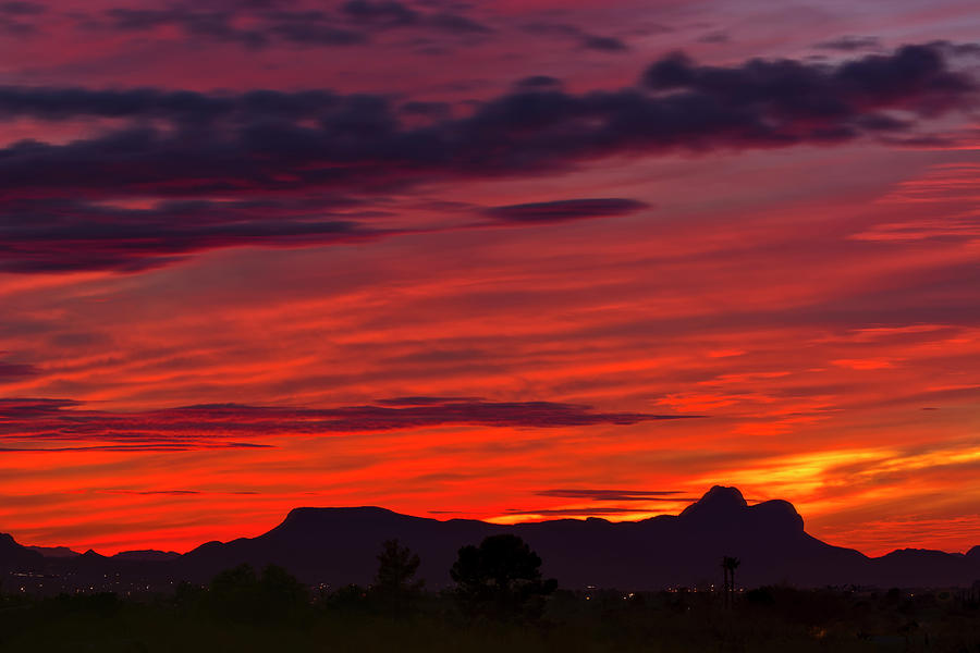 Sunset Silhouette H1816 Photograph