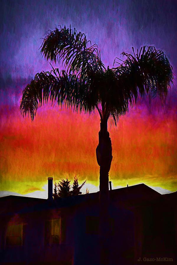 Pismo Painting - Sunset Silhouette by Jo-Anne Gazo-McKim