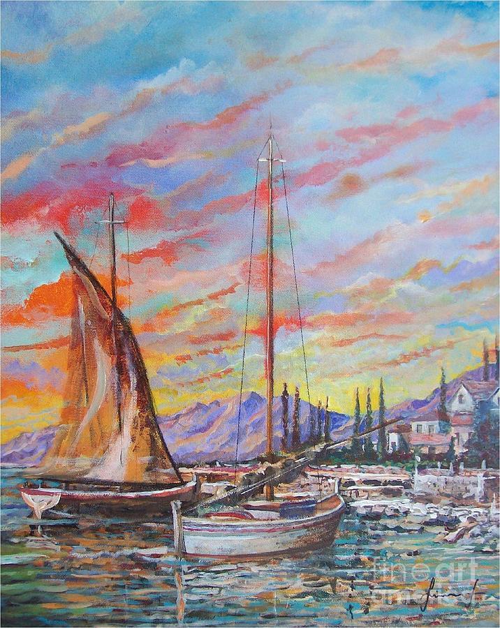 Sunset Painting - Sunset by Sinisa Saratlic