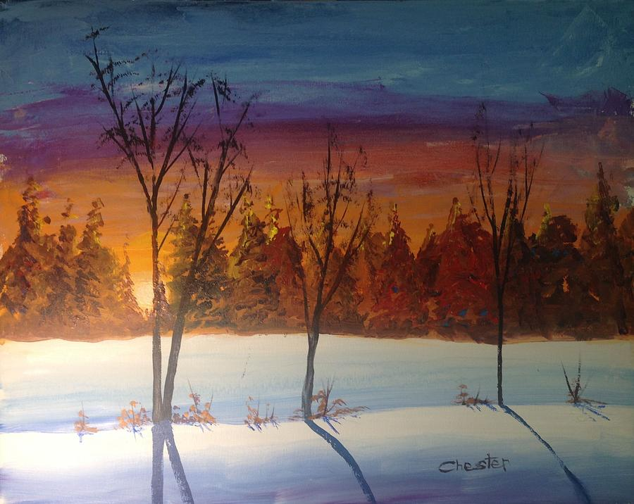 Sunset Snow by Francis Chester
