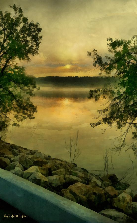 Landscape Painting - Sunset Splendor by RC deWinter