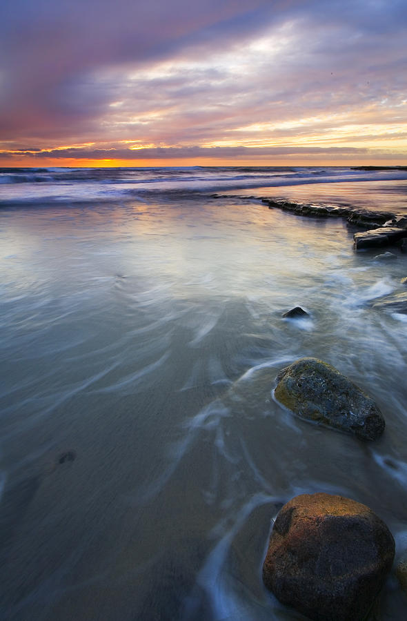 Seascape Photograph - Sunset Storm by Mike  Dawson