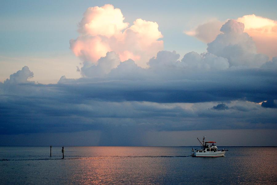 Thunderstrom Photograph - Sunset Storm by Steven Scott