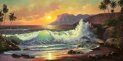 Sunset Painting by Suleyman Mavruk