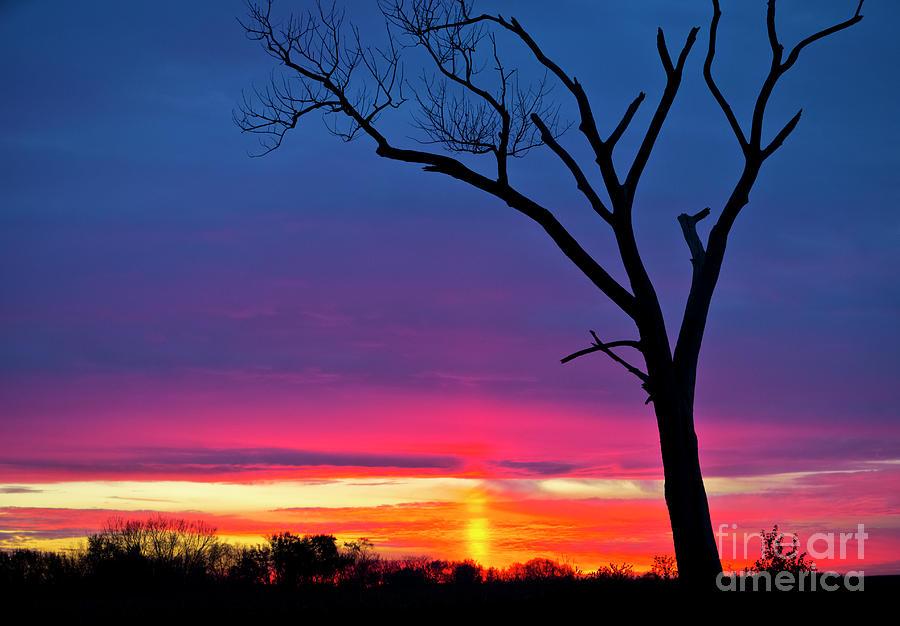 Canon Photograph - Sunset Sundog  by Ricky L Jones