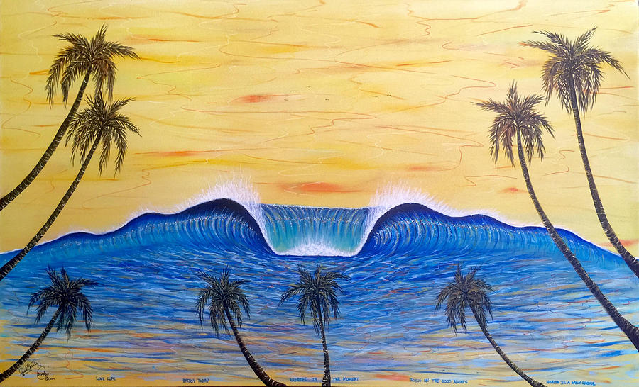 Sunset Surf Dream Painting by Paul Carter
