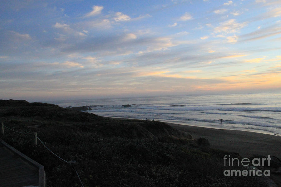 Surf Photograph - Sunset Surf by Linda Woods