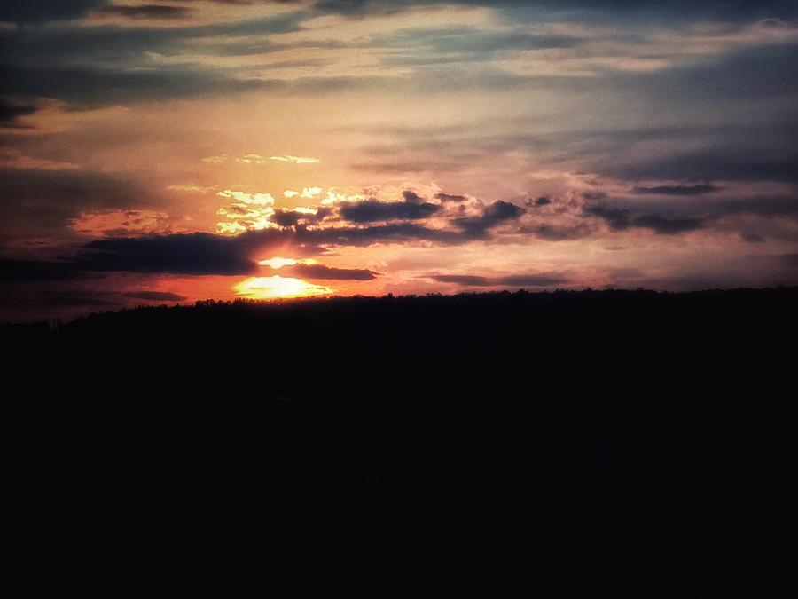 Sun Digital Art - Sunset by Sydney Otis