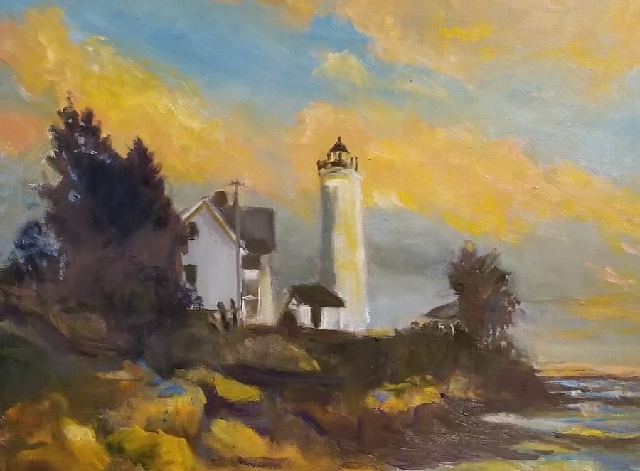 Sunset Tibbetts Point Lighthouse by Cheryl LaBahn Simeone