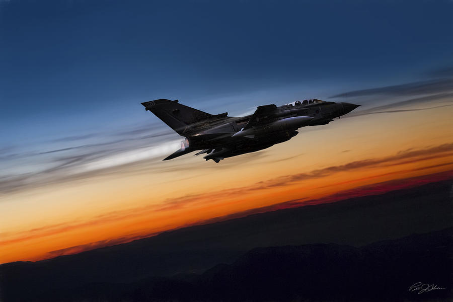 Panavia Digital Art - Sunset Tornado by Peter Chilelli