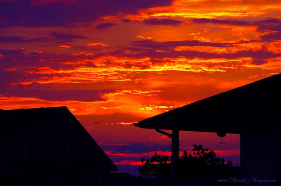 Sunset Photograph - Sunset Va 4736 by PhotohogDesigns