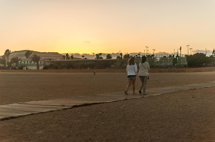 Fuertaventura Photograph - Sunset Walk by Bert Geoghegan