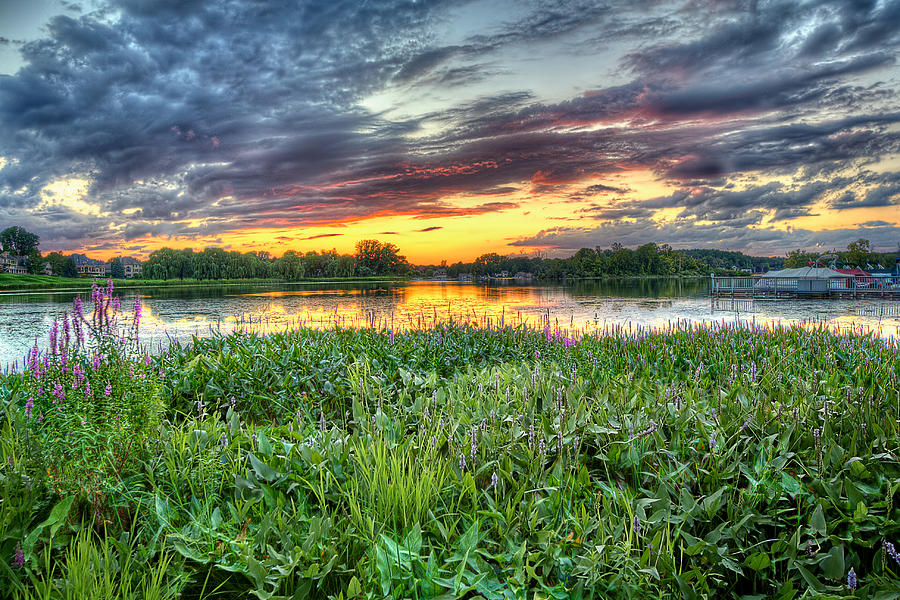 Hdr Photograph - Sunset West Crooked Lake by Jenny Ellen Photography