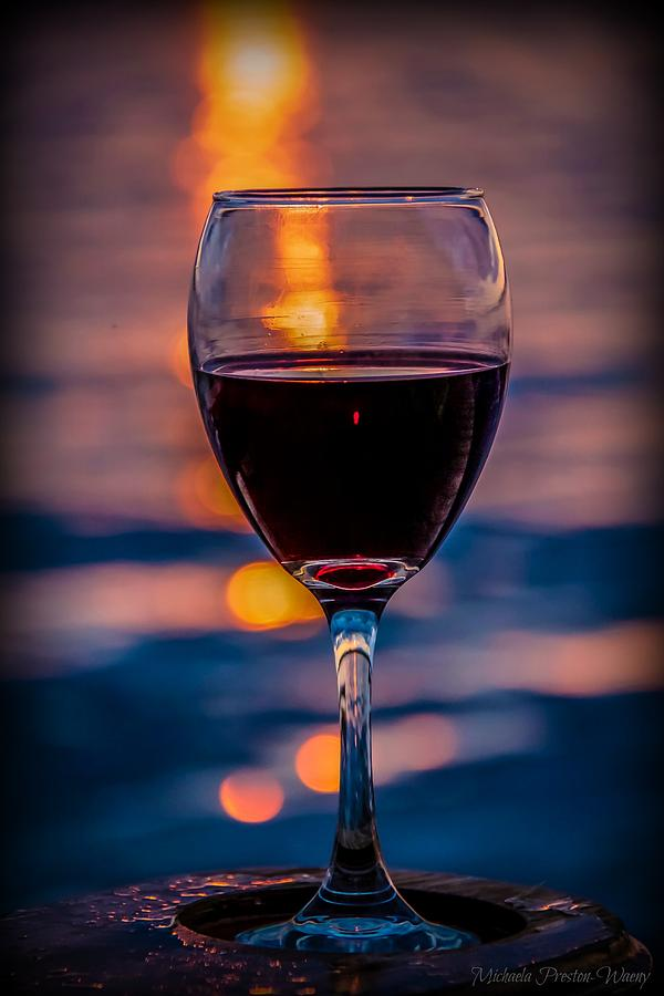 Sunset Wine by Michaela Preston