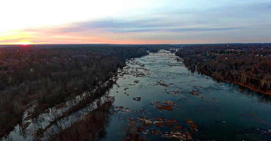 Rva Photograph - Sunset Winter 2016 by Tredegar DroneWorks