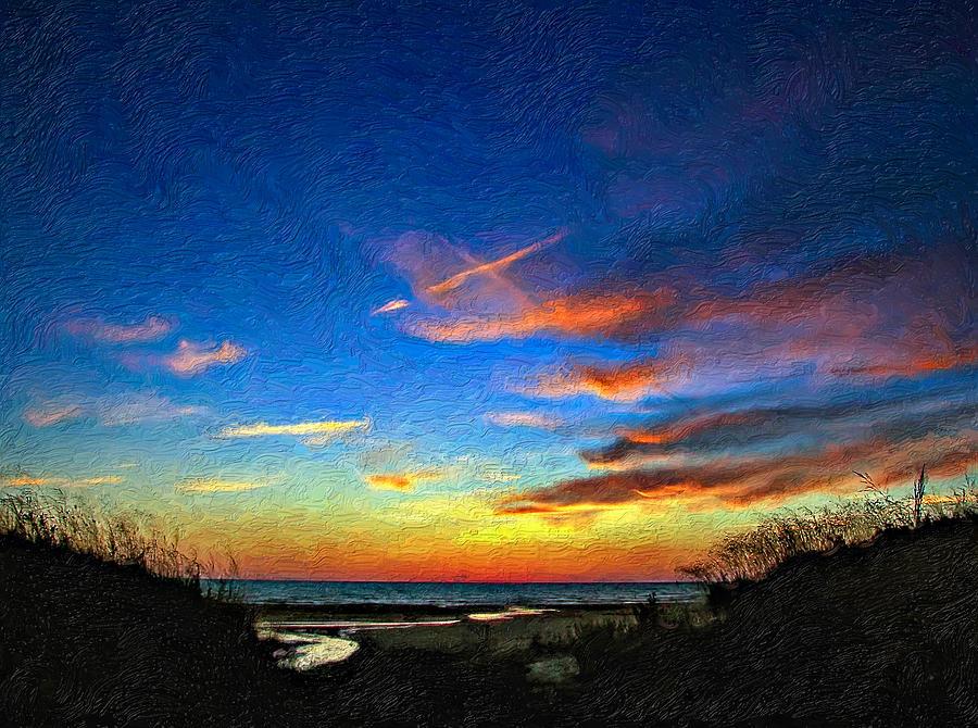 Sauble Beach Photograph - Sunset X Impasto by Steve Harrington