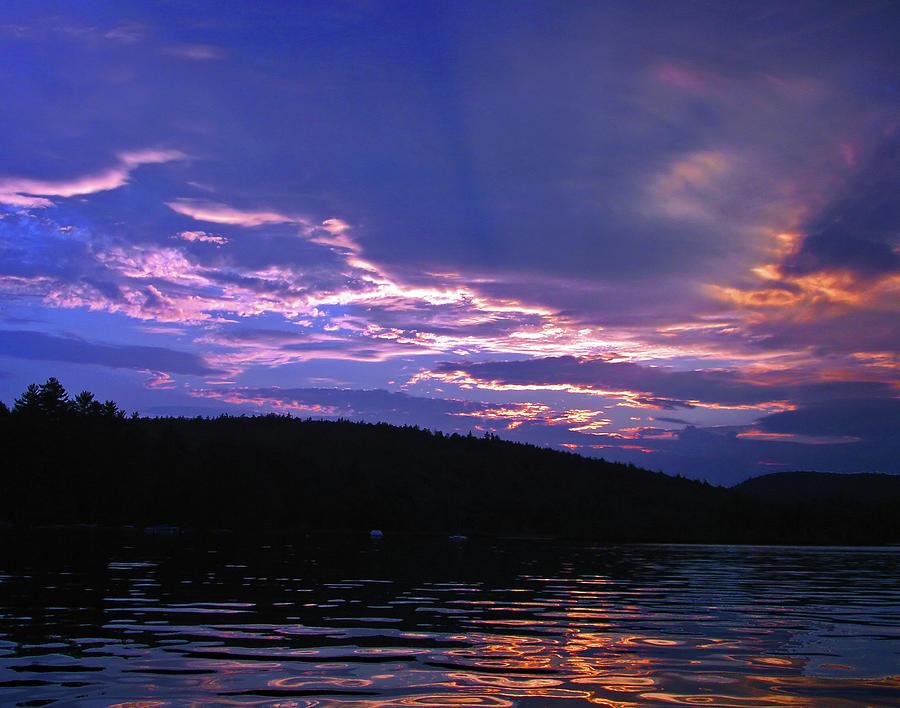 Lake Photograph - Sunsets Holy Shroud of Silence by Lynda Lehmann
