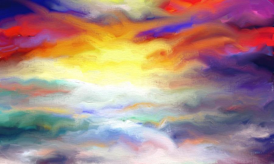 Sun Digital Art - Sunsets by Kevin Steven