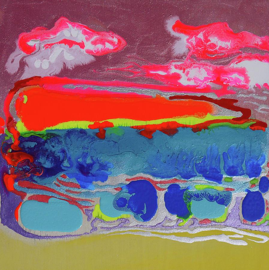 Mixed Media Painting - Sunsetting #2 by Joseph Demaree