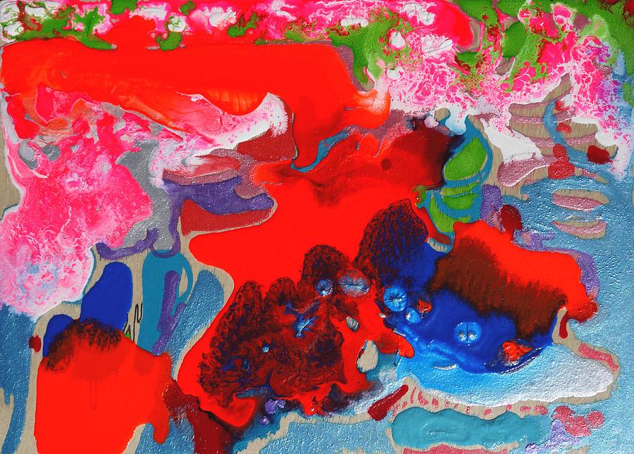 Mixed Painting - Sunsetting #3 by Joseph Demaree