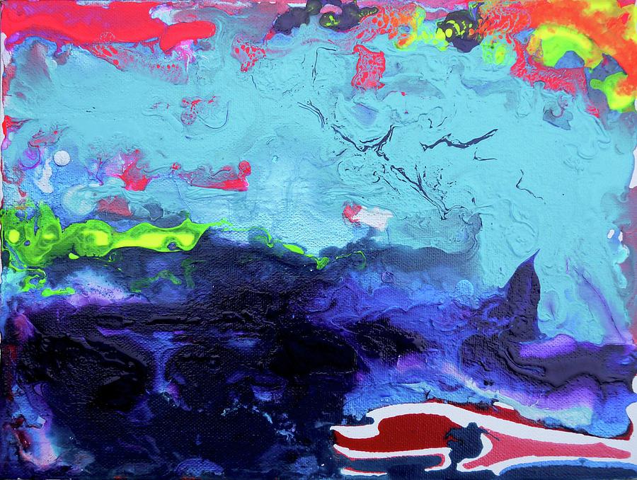 Waves Painting - Sunsetting #6 by Joseph Demaree