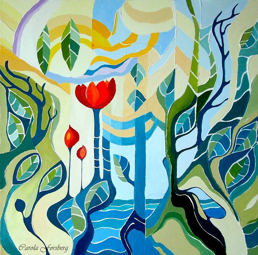 Fantasy Painting - Sunshine by Carola Ann-Margret Forsberg