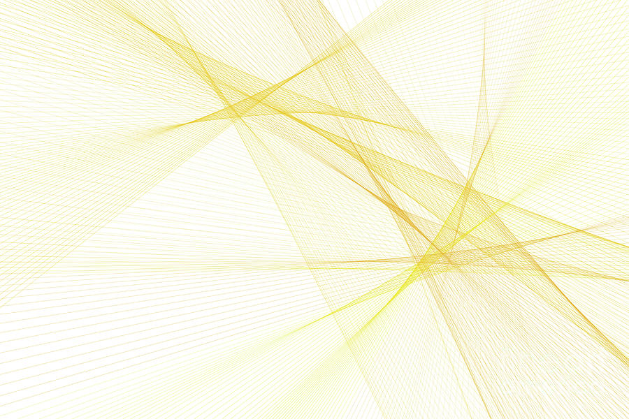 Abstract Digital Art - Sunshine Computer Graphic Line Pattern by Frank Ramspott