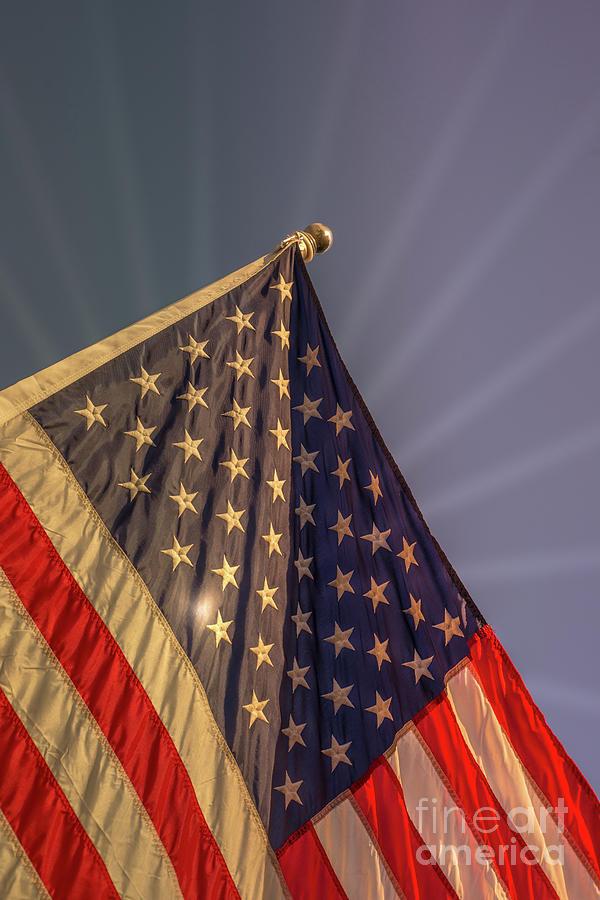 Usa Photograph - Sunshine Flag by Matthew Nelson