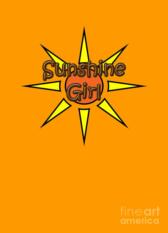 Sunshine Digital Art - Sunshine Girl by Judy Hall-Folde