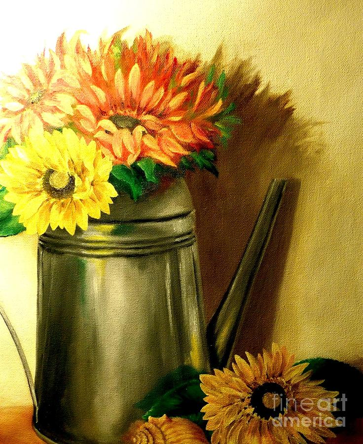 Still Life Painting - Sunshine In A Can by Patricia Lang