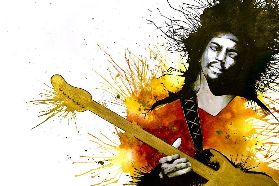 Jimi Hendrix Painting - Sunshine Of Your Love by Amber Bambler Keller