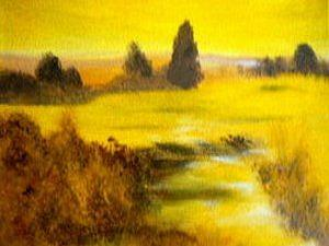 Yellow Painting - Sunshine Reggae by Lise-marielle Fortin