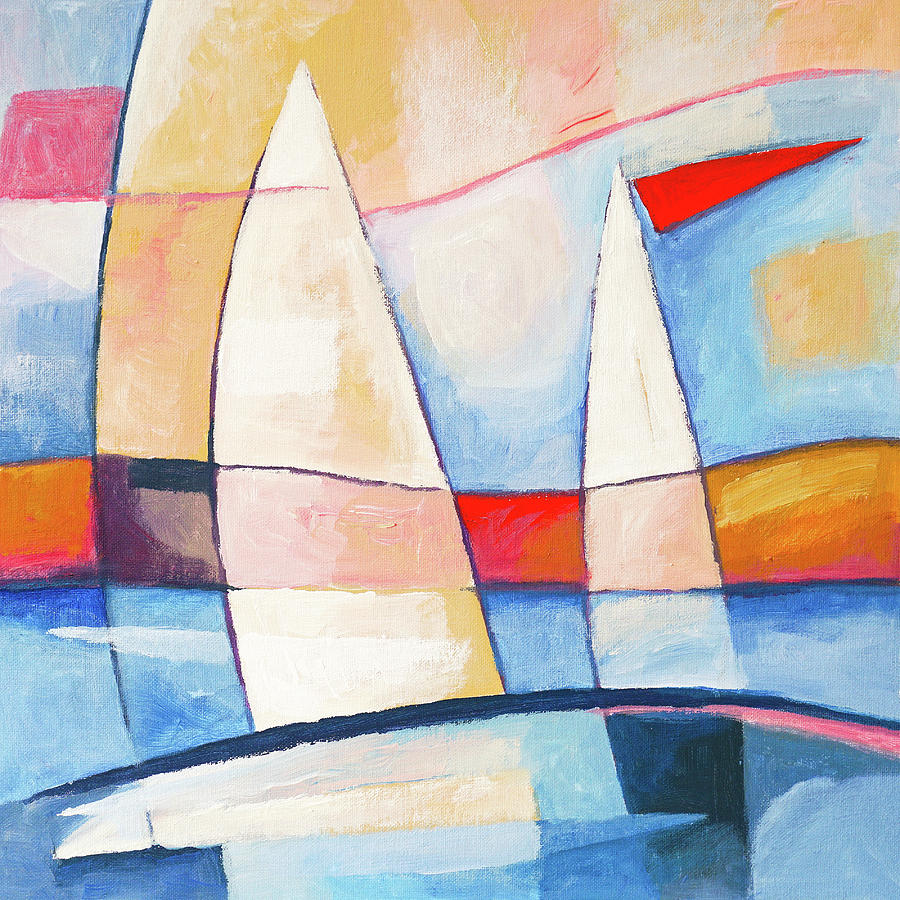 Sunshine Painting - Sunshine Sailing by Lutz Baar