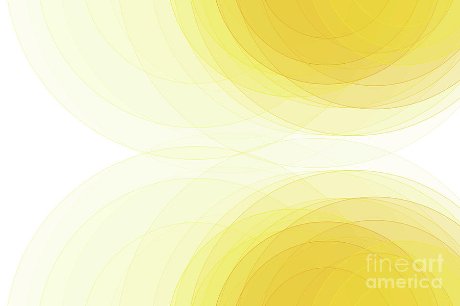Abstract Digital Art - Sunshine Semi Circle Background Horizontal by Frank Ramspott
