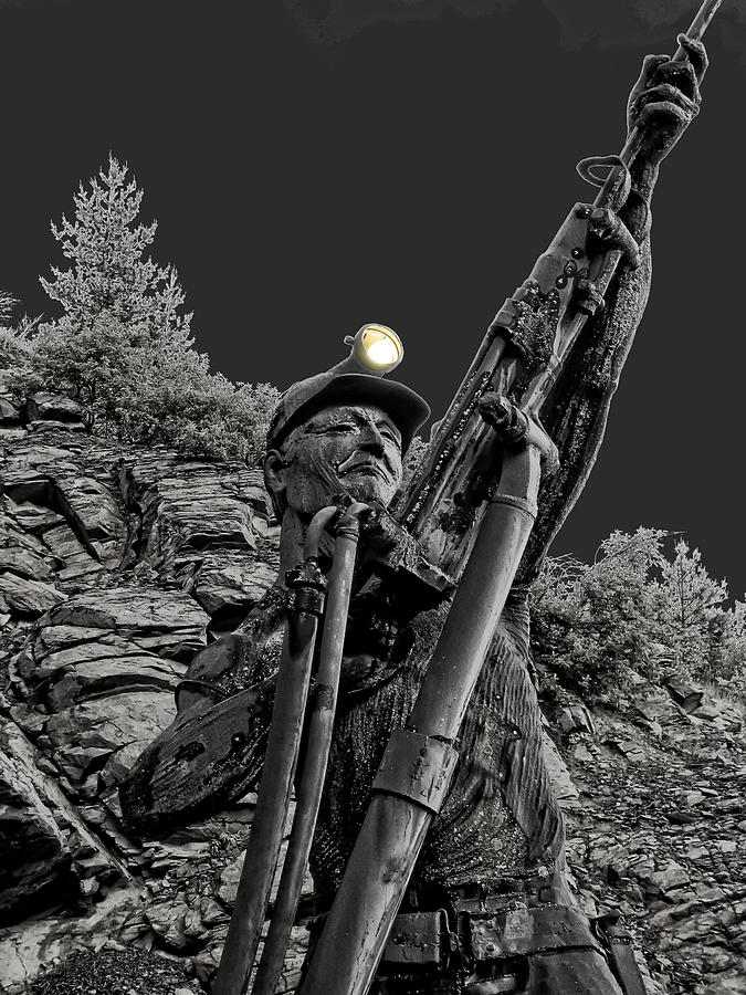 Silver Photograph - Sunshine Silver Mine Memorial - Kellogg Idaho by Daniel Hagerman