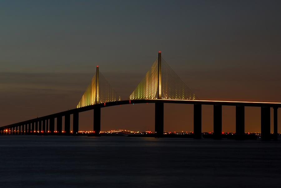 Bridge Photograph - Sunshine Skyway Bridge by Jonathan Sabin