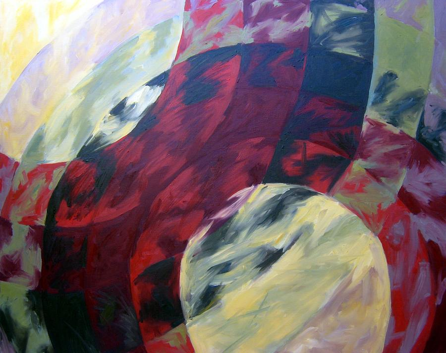 Abstract Painting - Sunshine Spectrum by Menucha Citron