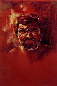 Portrait Painting - Sunshine by Tina Siddiqui