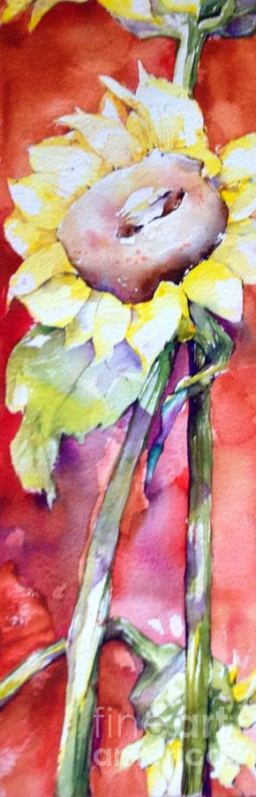 Floral Abstract Painting - Sunstruck by Laurel Adams