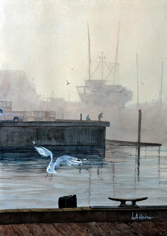 Maritime Painting - Sunup At The Docks by Bill Hudson
