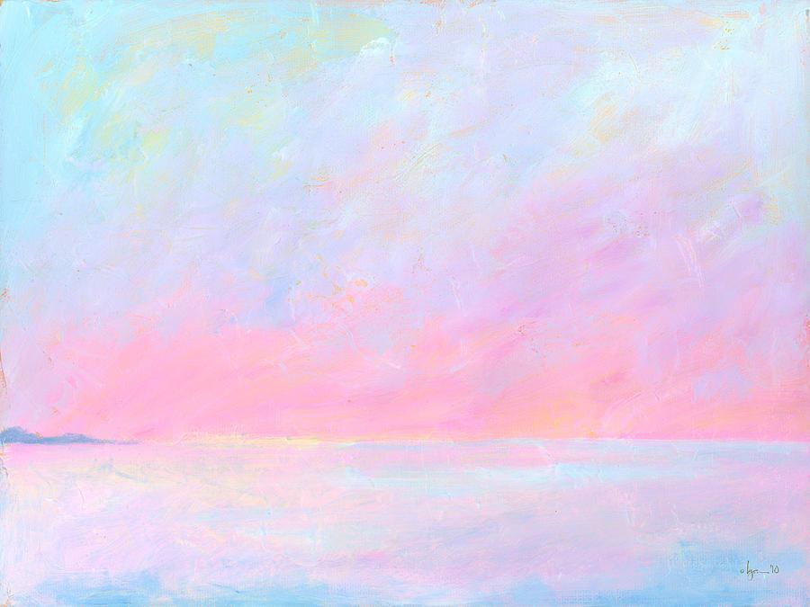 Light Painting - Sunup Over Kailua by Angela Treat Lyon