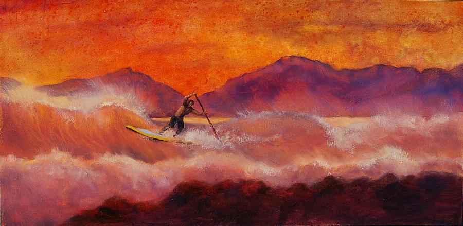 Sup Painting - S.u.p. by Lynee Sapere