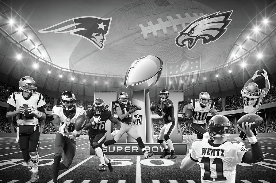 Super Bowl LII Collage by Steve and Sharon Smith