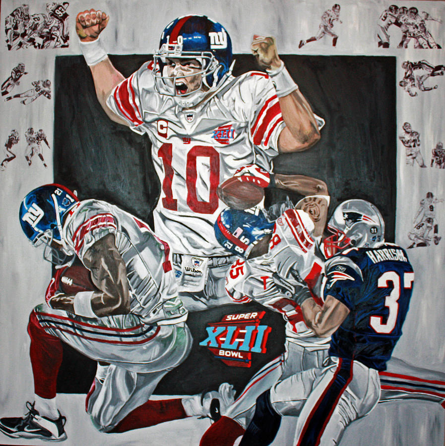 Super Bowl Xlii Champs  Painting by David Courson