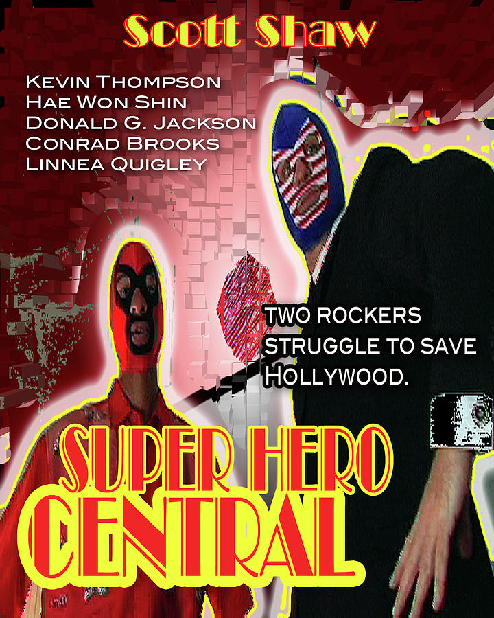 Zen Filmmaking Photograph - Super Hero Central by The Scott Shaw Poster Gallery