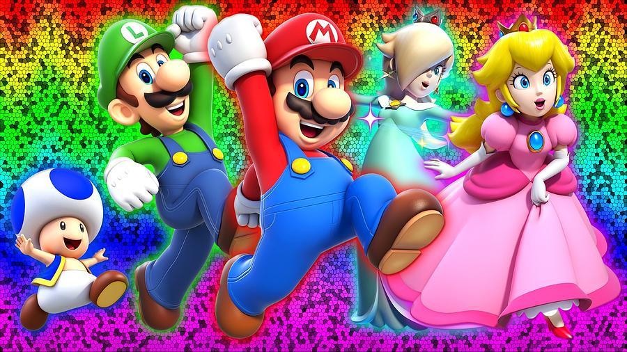 Cartoon Digital Art - Super Mario 3D World by Super Lovely