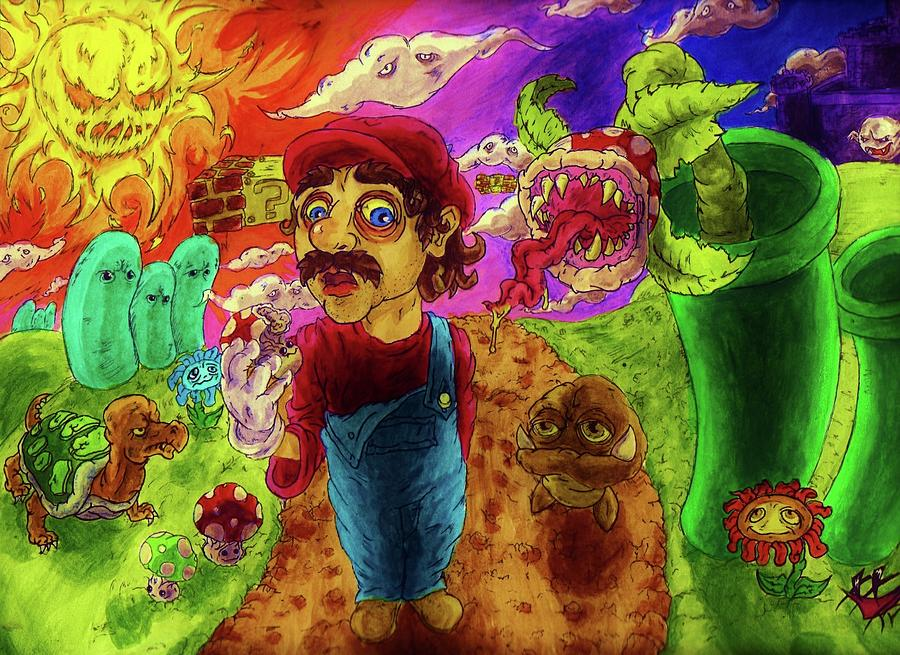 Trip Painting - Super Mario Boomers by Trevor Davy