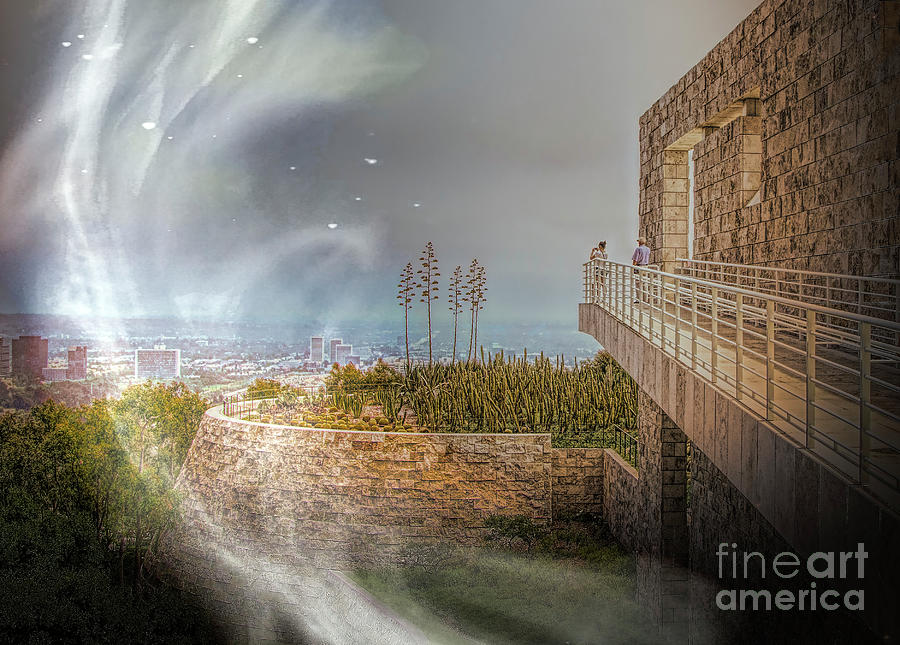 Getty Photograph - Super Natural Aliens Are Coming Getty Museum  by Chuck Kuhn